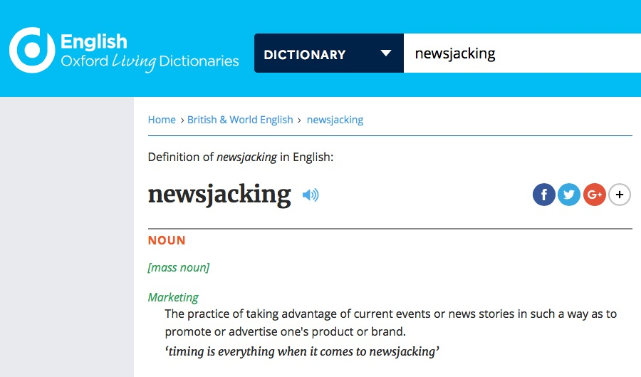 Newsjacking: Word of the Year 2017